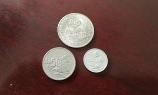 Indonesia vintage currency coin set (3 pcs)印尼盾硬钱币