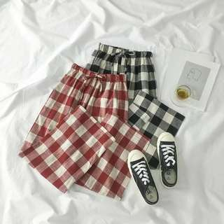 [PO] retro checkered pants