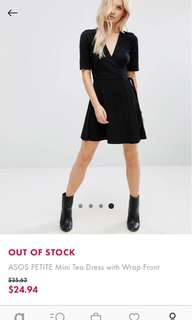 ASOS petite mini tea dress
