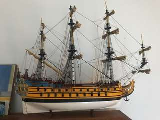 Hand made wooden ship «the Licorne»