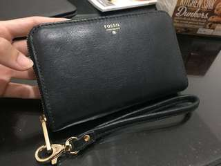 Original Fossil Genuine Leather wristlet