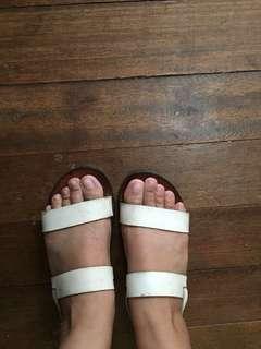 Zara white strappy sandals