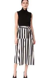 Adeam走秀款條紋裙 特殊設計