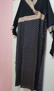Duo coloured kimono Polka Dot dress