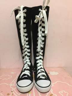 🚚 女童長統帆布鞋