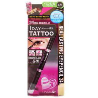K-palette authentic 1 day tattoo brown black eye pencil/crayon/eyeliner