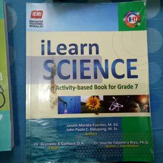 BOOKS GRADE 7 ILEARN SCIENCE