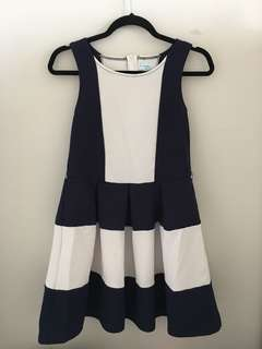 white & navy dress!