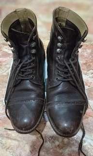 Sepatu boots kulit asli original