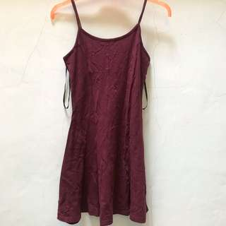New Look - Maroon Flare Dress