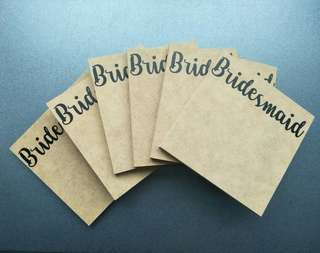 Bridesmaid gifts - Wooden letters