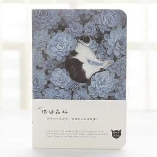 A5 cat succulent notebook