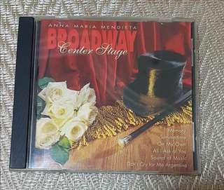 Anna Maria Mendieta - Broadway Center Stage CD
