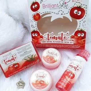 BRILLIANT SKIN essentials tomato natural rejuvenating facial set