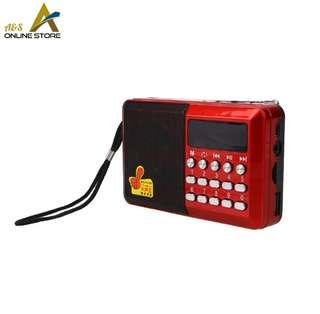 Portable Mini FM Radio, MP3 Player Support TF Card and USB
