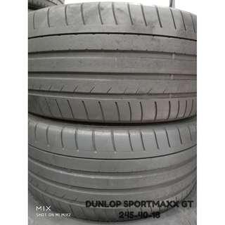 245-40-18 DUNLOP SPORTMAXX GT 一對 車呔仔 (二手呔專門店)