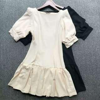 日本Snidel 包郵 33胸 透視袖 兩色 斯文 連身裙