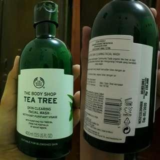 FACIAL WASH THE BODY SHOP TEA TREE 400ML. KEMASAN LEBIH BESAR