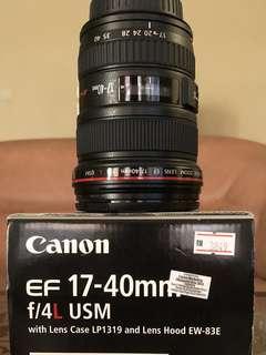 Canon 17-40mm f4L USM