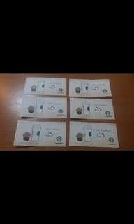Starbucks/Pacific Coffee cash coupon,九折發售