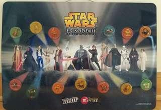 限量版星戰Starwar M&M's吸力磁石貼掛畫