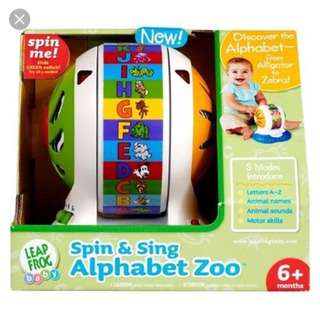 Leapfrog Spin and sing alphabet zoo.