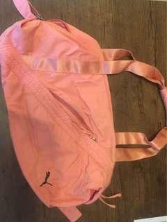 Puma 休閒運動袋(粉紅色)