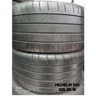 265-35-18 MICHELIN PSS 一對 車呔仔 (二手呔專門店)