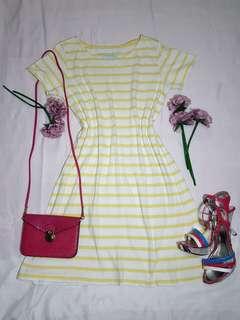 Yellow stripes dress