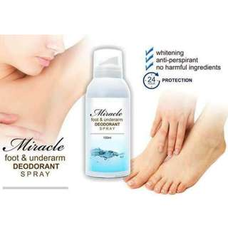 miracle foot & underarm deodorant spray