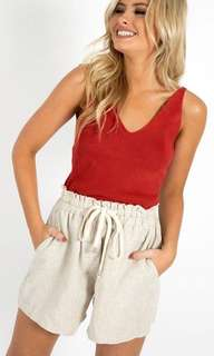 Knit top in Red
