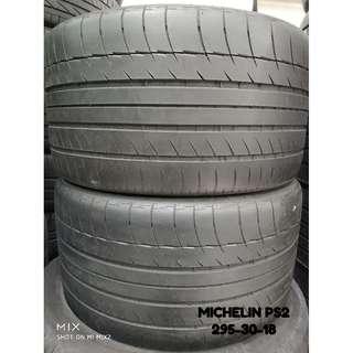 295-30-18 MICHELIN PS2 一對 車呔仔 (二手呔專門店)