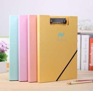 Cute Pastel File Storage A4 Folder Clip File