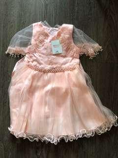 Pink princess dress gown