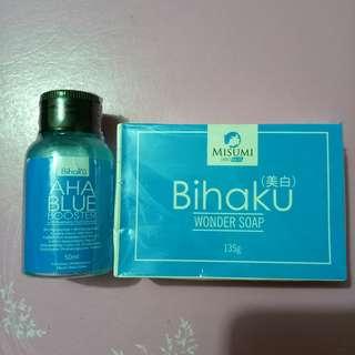 BIHAKU WONDER SOAP AND AHA BLUE BOOSTER
