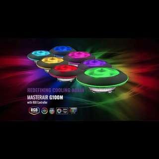 🚚 Coolermaster Masterair G100M RGB CPU Cooler with RGB Controller Heatsink Fan HSF