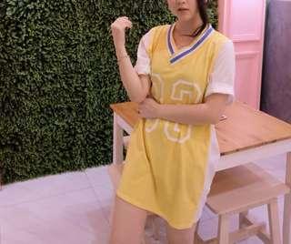 Sporty yellow dress