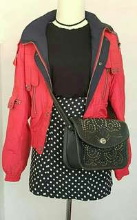 Jaket merah keren - Red Jacket High Quality Material