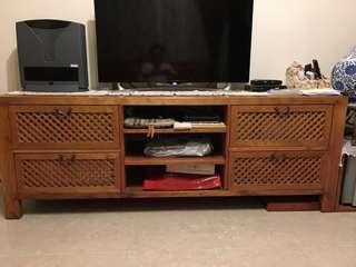 復古六尺連4柜桶地櫃/電視櫃