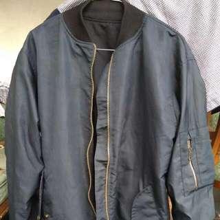 Bomber Jacket Black Tan