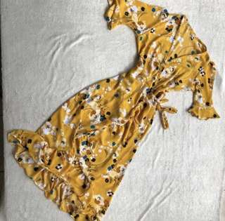 Mustard Midi Dress in Medium