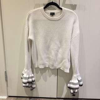 (14) Bardot knit w/ bell sleeves
