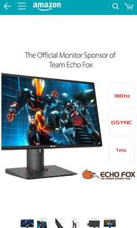 "ASUS ROG SWIFT PG248Q 24"" Full HD 1ms 180Hz DP HDMI Eye Care G-SYNC eSports Gaming Monitor with DP and HDMI ports"