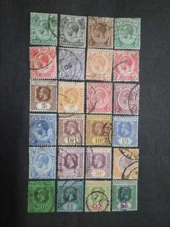 Straits Settlements 1912 1921-1933 King George V Set Up To $5 - 24v Used Malaya Stamps