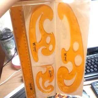Penggaris Butterfly 4pcs Curve Drawing Set Art No. BT-740