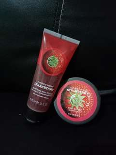 BODY SHOP (body butter& softening body polish)