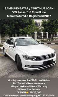SAMBUNG BAYAR / CONTINUE LOAN  VW Passat 1.8 Trend Line Manufactured & Registered
