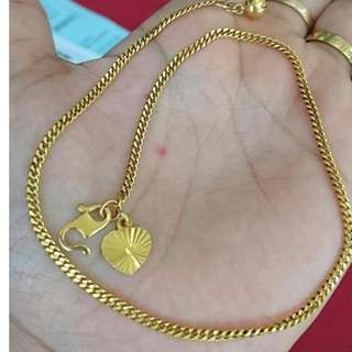 916 Gold Angklet
