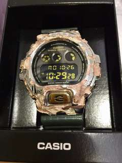 G Shock Bespoke DW-6900CR with solid piece of Vermeil (sterling silver with pink gold)