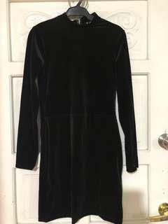 H&M Black Dress / Velvet dress